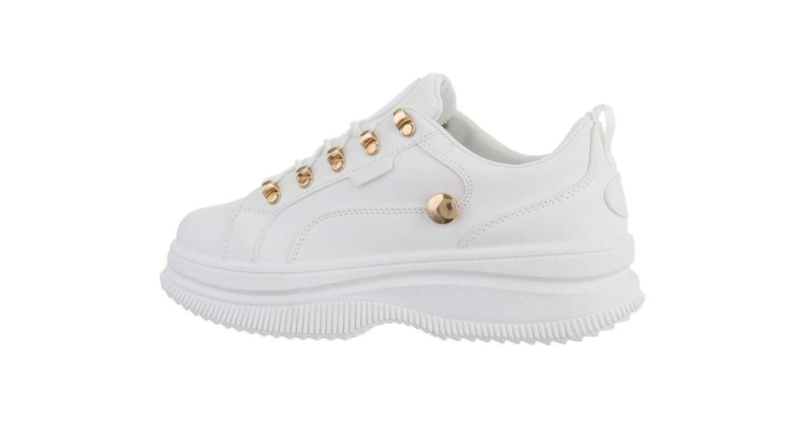 Sneakers wit goud