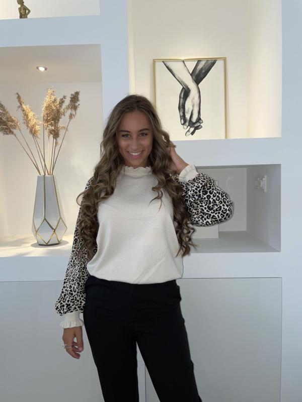 Trui luipaard creme - Naomi
