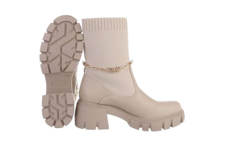Laarzen beige/goud