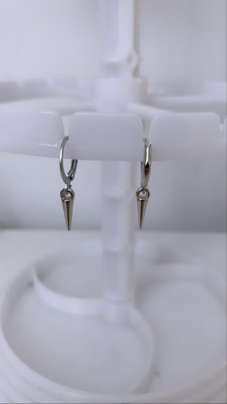 Zilveren oorbellen staafjes