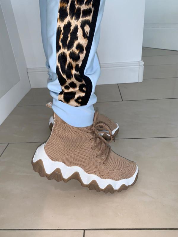 High sneakers khaki