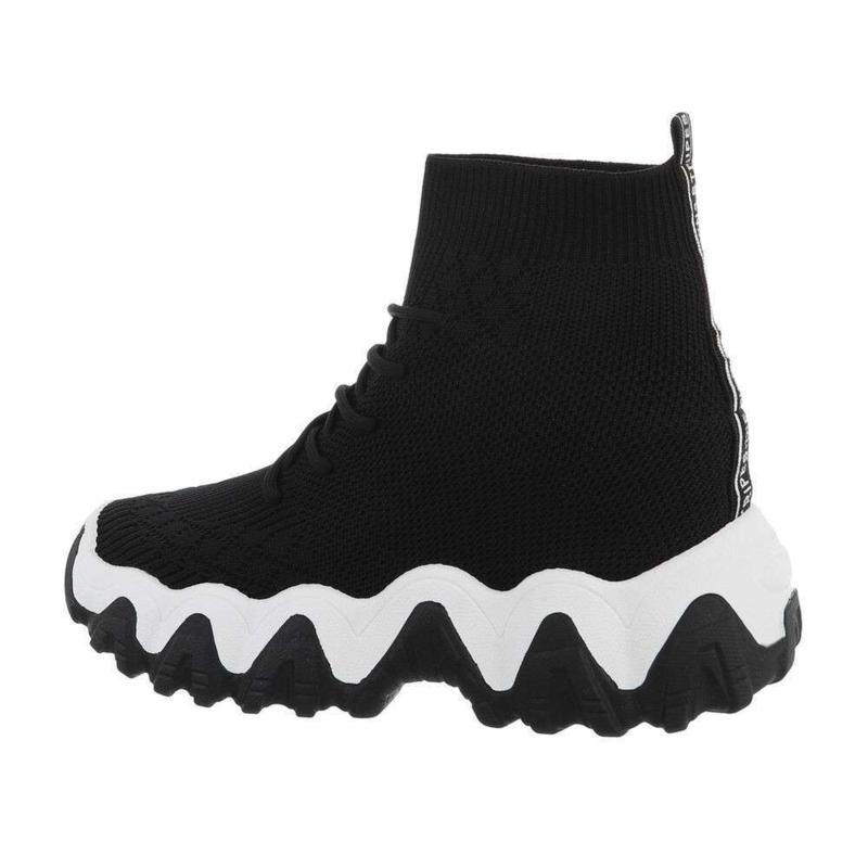 High sneakers zwart