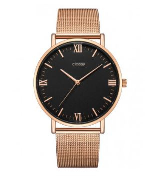 Horloge rose gold zwart