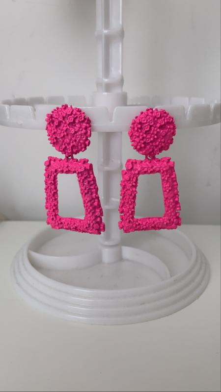 Pink oorbellen