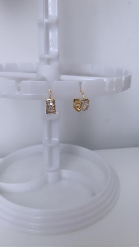 Gouden oorbel bergkristal
