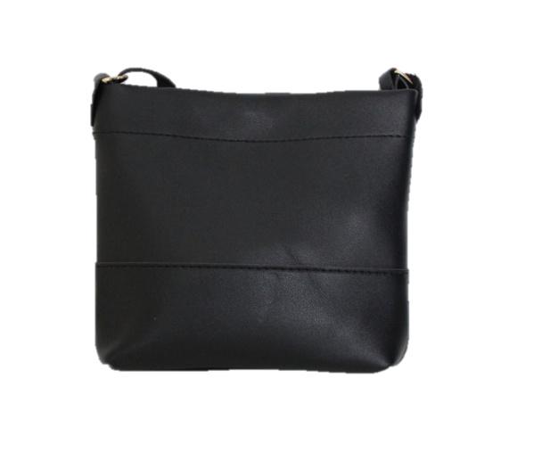 Mini schoudertas zwart