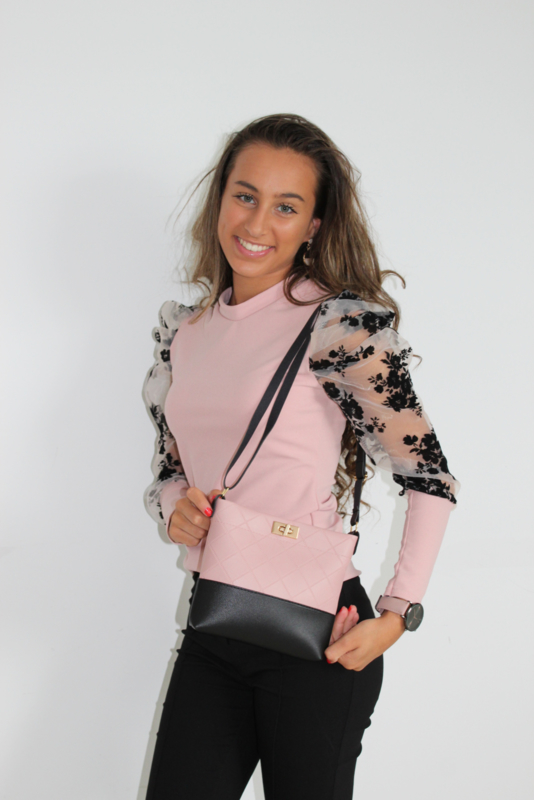 Mini schoudertas rosé gold