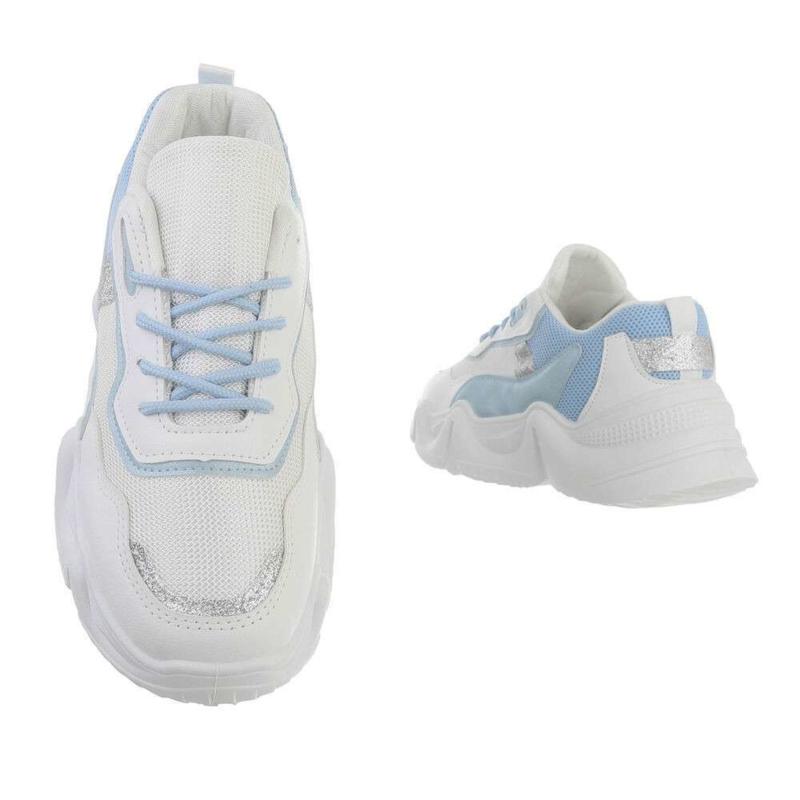 Sneaker blauw met wit - Sophie