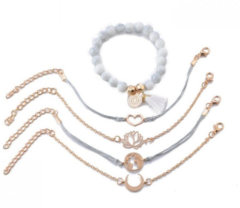 Armbanden goud (5-delig)