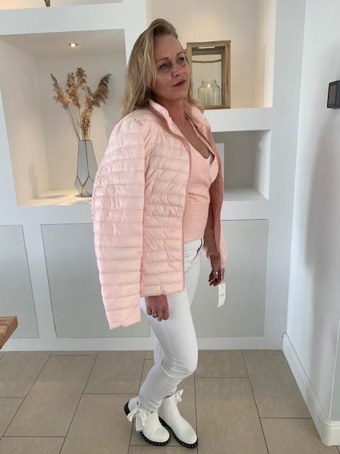 Gewatteerde tussenjas, roze