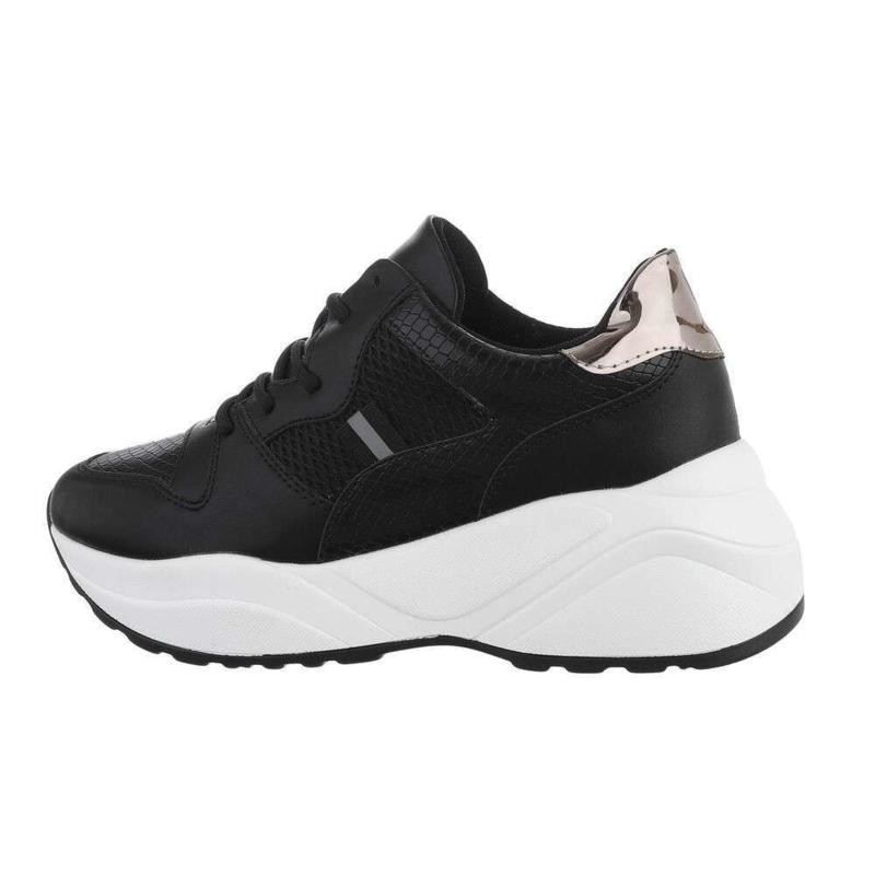 Sneakers zwart met wit