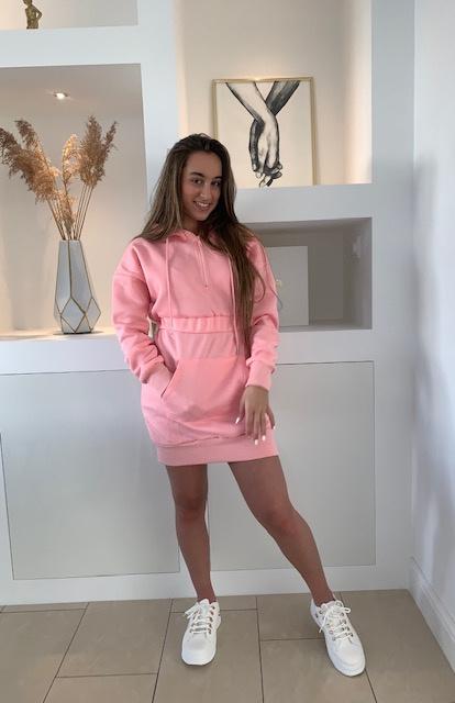 Hoodie jurk roze Nikki