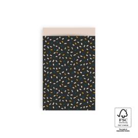 Cadeauzakjes Confetti Multi - Dark Grey/Beige - 12x19 cm - 5 stuks