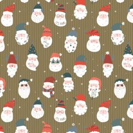 NIEUW! Kerst / Santa's feestje - Goudfolie - 50 cm