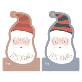 Stickers Kerst Duo groot - Santa's feestje/It's X-mas - 10 stuks