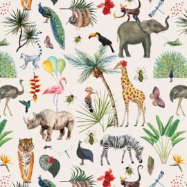 Inpakzakjes Jungle - 17x25 cm - 5 stuks