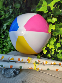 Inpakpapier Strandballen - Sand dubbelzijdig - 50cm