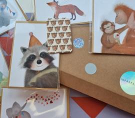Minikaart - Panterkoppen - 5,5x 8,5 cm