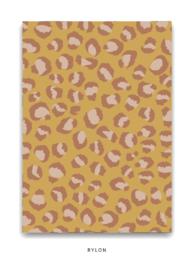 Ansichtkaart A6 - Panterprint geel