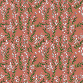Inpakpapier Flowers - Red- 30cm