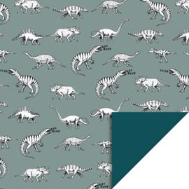 Inpakpapier Dino - Blue - 70cmx3m
