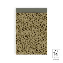 Inpakzakjes Dots - Mosgroen/green - 17x25 cm - 5 stuks