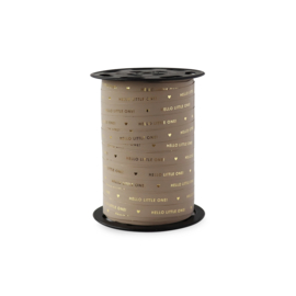Lint Hello little one - Paporlene goudfolie - Taupe - 5 meter