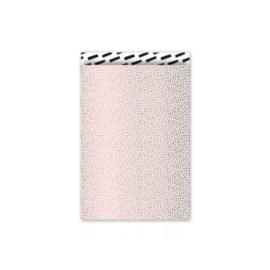 Cadeauzakjes Cozy Cubes - roze/wit/zwart - 12x19 cm - 5 stuks