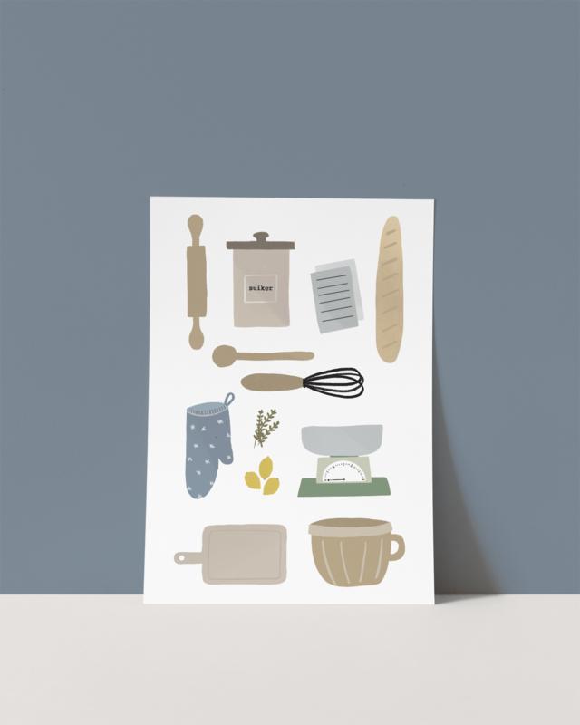 Ansichtkaart A6 - Oerhollands bakken / koken