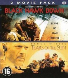 2 movie pack - Black Hawk Down en Tears of the Sun (blu-ray tweedehands film)