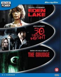 3 movie box Eden Lake 30 days of night en the grudge (blu-ray tweedehands film)