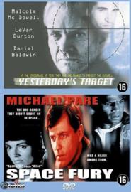 2 films op 1 dvd Yesterdays Target en Space Fury (dvd nieuw)