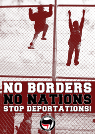 No Borders No Nations Sticker