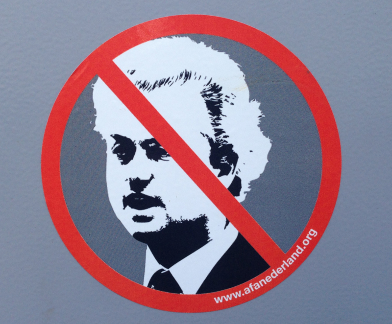 Anti-Wilders sticker