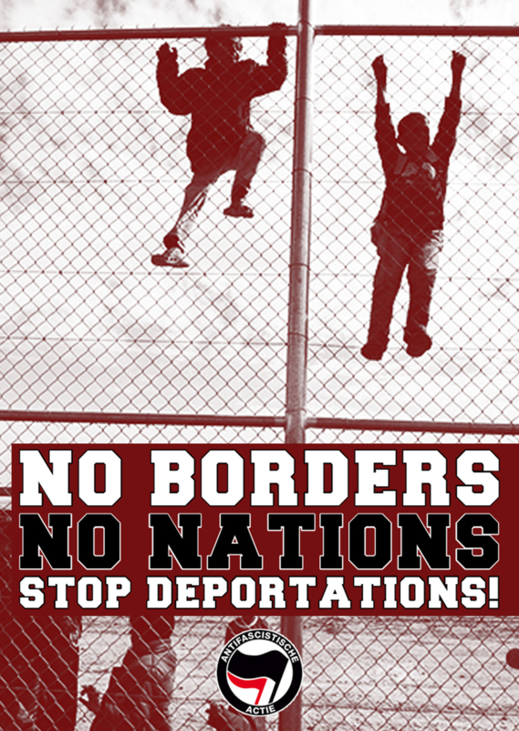 No Borders No Nations Sticker