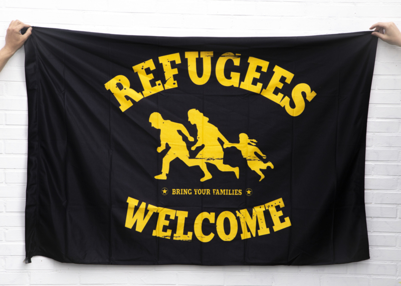 Refugees Welcome vlag