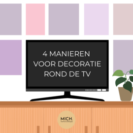 Hoe decoreer je rond de TV? 4 manieren om te decoreren.