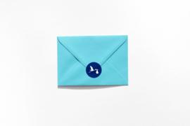 Geboorte sluitzegels | Ooievaar | marine blauw