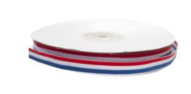 Lint | katoenlint 6 mm | rood/wit/blauw