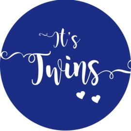 Geboorte sluitzegels | Tweeling | It's twins | marine blauw