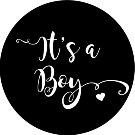 Geboorte sluitzegels | It's a boy | zwart