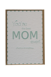Kaart Moederdag | You're the best mom ever | green beryl
