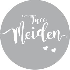 Geboorte sluitzegels | Tweeling | Twee meiden | grijs