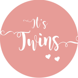 Geboorte sluitzegels | Tweeling | It's twins | oudroze