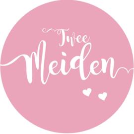 Geboorte sluitzegels | Tweeling | Twee meiden | flicht roze
