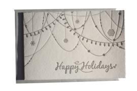 Kerstkaart | Happy Holidays | 300 gram | zilver