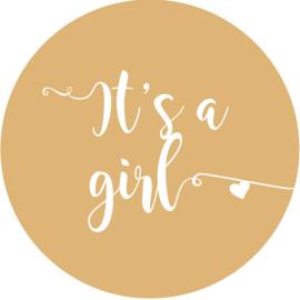 Geboorte sluitzegels | It's a girl | zand
