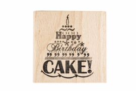 Stempel verjaardag | Happy birthday cake