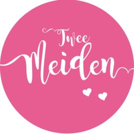 Geboorte sluitzegels | Tweeling | Twee meiden | fuchsia roze