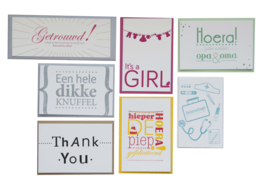 Kaarten set | Set Hallo letterpress